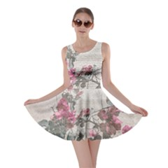 Shabby Chic Style Floral Photo Skater Dress