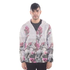 Shabby Chic Style Floral Photo Hooded Wind Breaker (men)