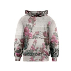 Shabby Chic Style Floral Photo Kids  Pullover Hoodie