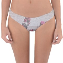 Shabby Chic Style Floral Photo Reversible Hipster Bikini Bottoms