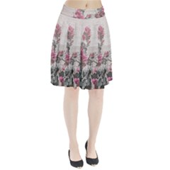 Shabby Chic Style Floral Photo Pleated Skirt