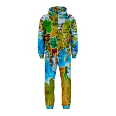 World Map Hooded Jumpsuit (kids)