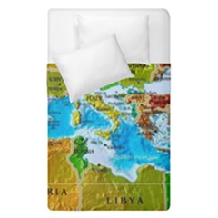 World Map Duvet Cover Double Side (single Size)