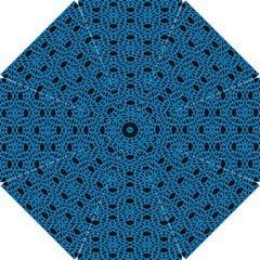 Triangle Knot Blue And Black Fabric Hook Handle Umbrellas (small)