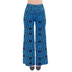 Triangle Knot Blue And Black Fabric Pants