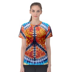 Tie Dye Peace Sign Women s Sport Mesh Tee