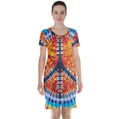 Tie Dye Peace Sign Short Sleeve Nightdress