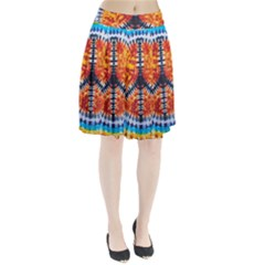 Tie Dye Peace Sign Pleated Skirt