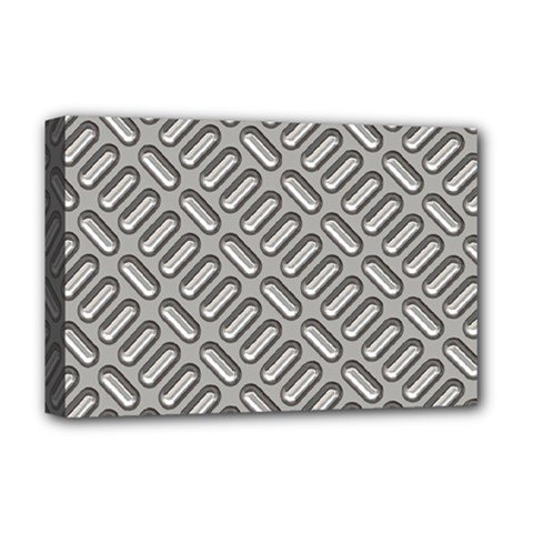 Grey Diamond Metal Texture Deluxe Canvas 18  X 12