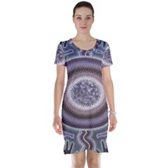 Spirit Of The Child Australian Aboriginal Art Short Sleeve Nightdress