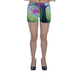 Forests Stunning Glimmer Paintings Sunlight Blooms Plants Love Seasons Traditional Art Flowers Sunsh Skinny Shorts