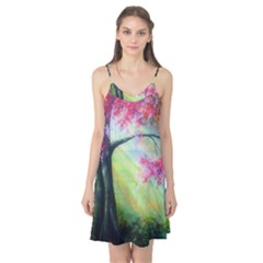 Forests Stunning Glimmer Paintings Sunlight Blooms Plants Love Seasons Traditional Art Flowers Sunsh Camis Nightgown
