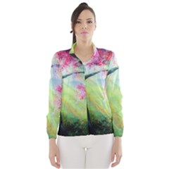 Forests Stunning Glimmer Paintings Sunlight Blooms Plants Love Seasons Traditional Art Flowers Sunsh Wind Breaker (women)