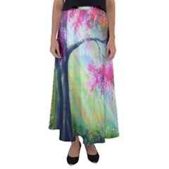 Forests Stunning Glimmer Paintings Sunlight Blooms Plants Love Seasons Traditional Art Flowers Sunsh Flared Maxi Skirt