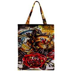 Flower Art Traditional Zipper Classic Tote Bag