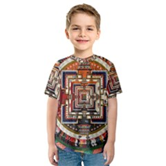 Colorful Mandala Kids  Sport Mesh Tee