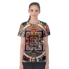 Colorful Mandala Women s Sport Mesh Tee