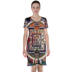 Colorful Mandala Short Sleeve Nightdress