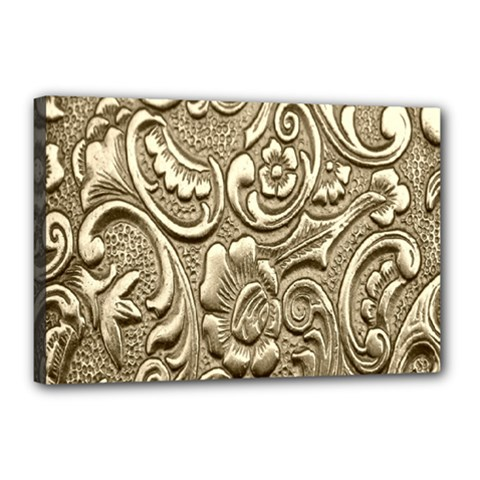 Golden European Pattern Canvas 18  X 12