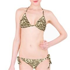 Golden European Pattern Bikini Set