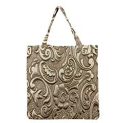 Golden European Pattern Grocery Tote Bag