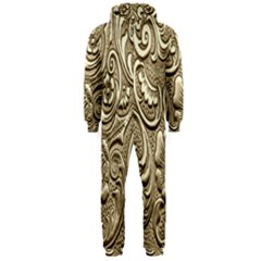 Golden European Pattern Hooded Jumpsuit (men)