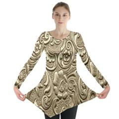 Golden European Pattern Long Sleeve Tunic