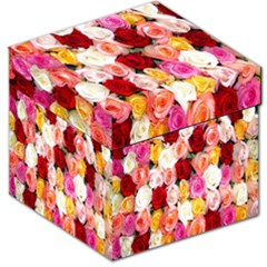 Rose Color Beautiful Flowers Storage Stool 12