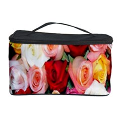 Rose Color Beautiful Flowers Cosmetic Storage Case