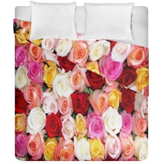 Rose Color Beautiful Flowers Duvet Cover Double Side (california King Size)