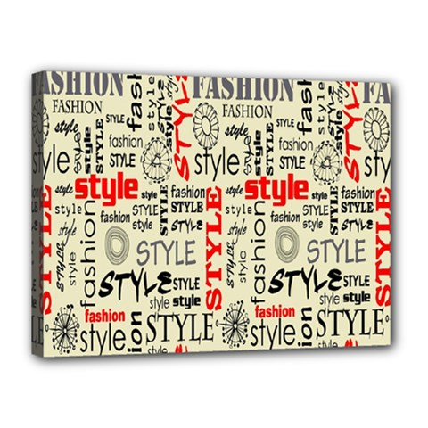 Backdrop Style With Texture And Typography Fashion Style Canvas 16  X 12