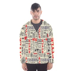 Backdrop Style With Texture And Typography Fashion Style Hooded Wind Breaker (men)