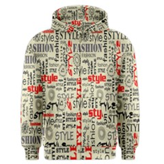 Backdrop Style With Texture And Typography Fashion Style Men s Zipper Hoodie