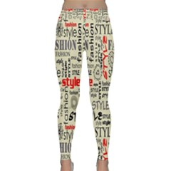 Backdrop Style With Texture And Typography Fashion Style Classic Yoga Leggings