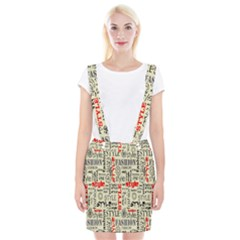 Backdrop Style With Texture And Typography Fashion Style Braces Suspender Skirt