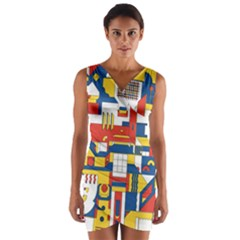 Hide And Seek Wrap Front Bodycon Dress