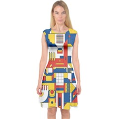 Hide And Seek Capsleeve Midi Dress