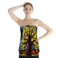 Tree Of Life Strapless Top