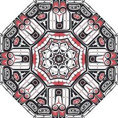 Ethnic Traditional Art Hook Handle Umbrellas (small)