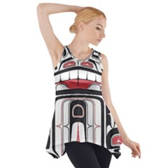 Ethnic Traditional Art Side Drop Tank Tunic