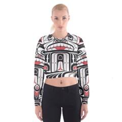 Ethnic Traditional Art Cropped Sweatshirt