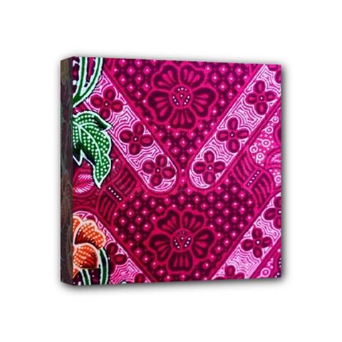 Pink Batik Cloth Fabric Mini Canvas 4  X 4