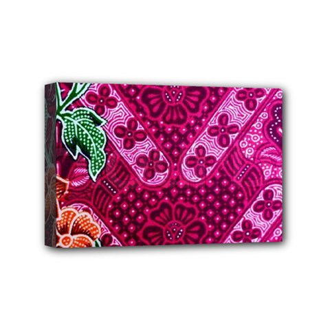 Pink Batik Cloth Fabric Mini Canvas 6  X 4