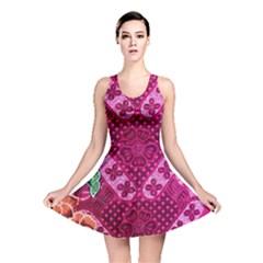 Pink Batik Cloth Fabric Reversible Skater Dress