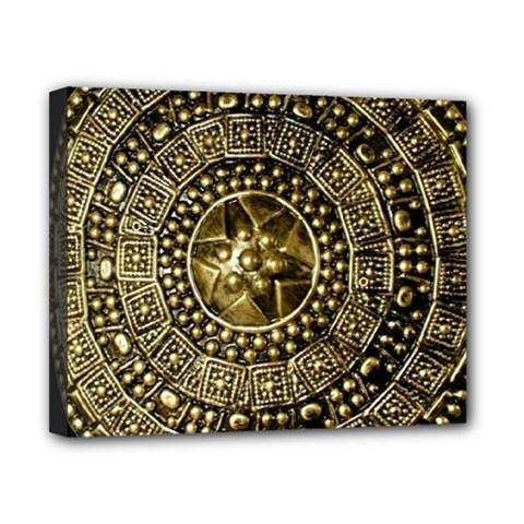Gold Roman Shield Costume Canvas 10  X 8