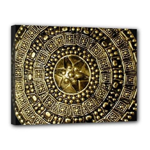 Gold Roman Shield Costume Canvas 16  X 12