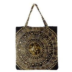 Gold Roman Shield Costume Grocery Tote Bag