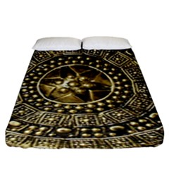 Gold Roman Shield Costume Fitted Sheet (king Size)