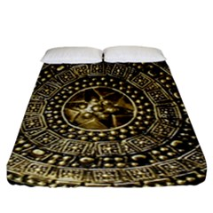 Gold Roman Shield Costume Fitted Sheet (california King Size)