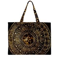 Gold Roman Shield Costume Zipper Mini Tote Bag
